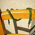 Une nouvelle spirale crochetée verte en fini mat..jadore..