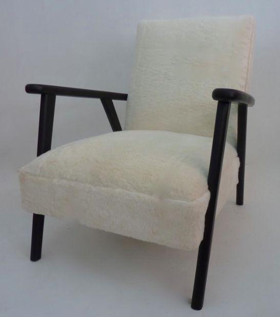 Fauteuil laine rasée