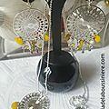 BO Aztèque et son sautoir Aztèque assortie (argenté et jaune moutarde) - 37 € le collier ; 21 € le collier