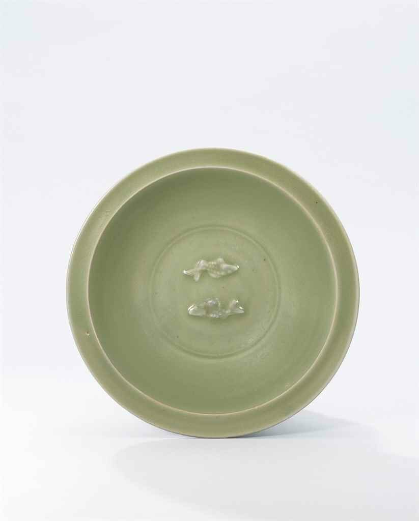 A Longquan celadon 'Twin-Fish' dish, Southern Song Dynasty, (1127-1279)