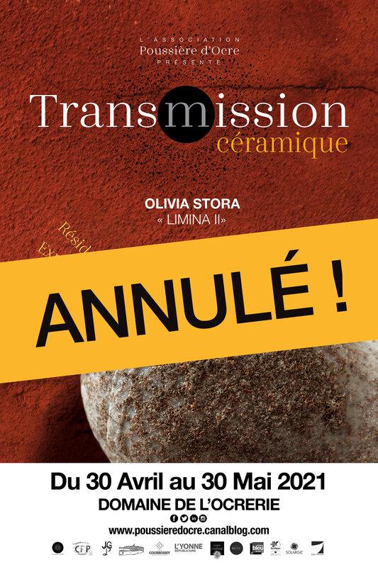 Exposition d'Olivia Stora du 30/4 au 30/5/21 annulée