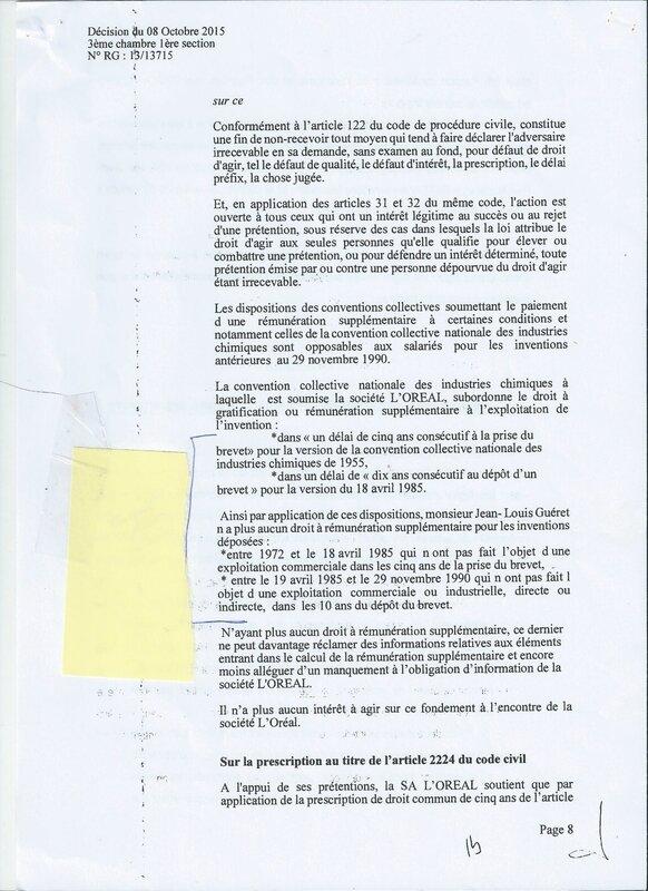 GUERET L'OREAL 8