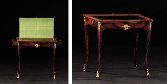 table crire avec cran cr maillere par antoine robert gaudreaus 1680 1751 paris poque. Black Bedroom Furniture Sets. Home Design Ideas