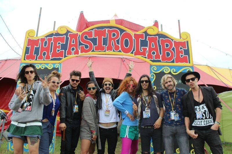 Glastonbury festival 2014 Airnadette theatre & circus