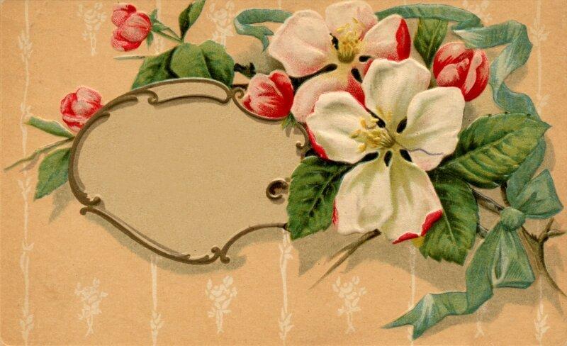 Carte shabby - fleurs