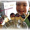 Sucettes chocolatées et craquantes à faire avec les petites mains