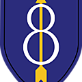 8th infantry division américaine.