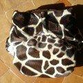 PUL recouvert d'un tissu imitation girafe