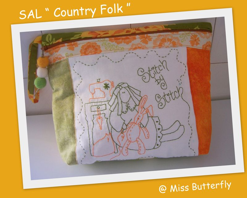 SAL COUNTRY FOLK ...POCHETTE ZIPPÉE