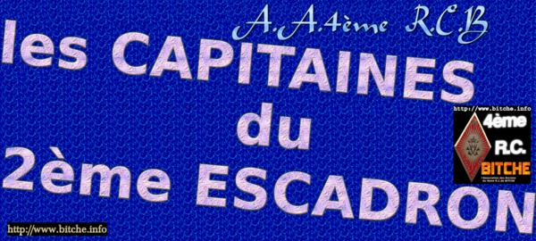 les CAPITAINES DU 2ème ESCADRON 01