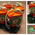 Boîte à chocolats de pâques - carottes