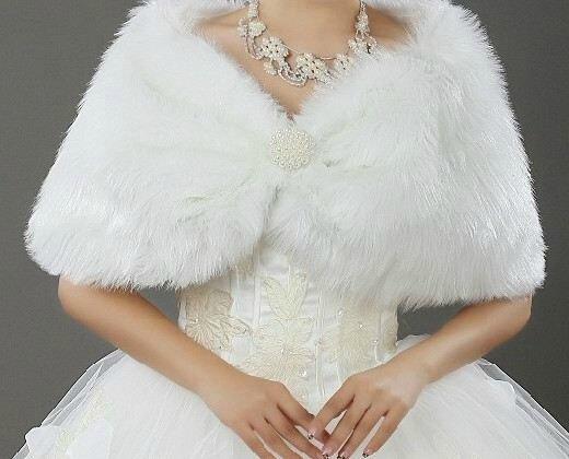 bolero fourrure perle