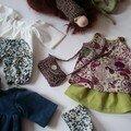 Vêtements de poupée automne-hiver