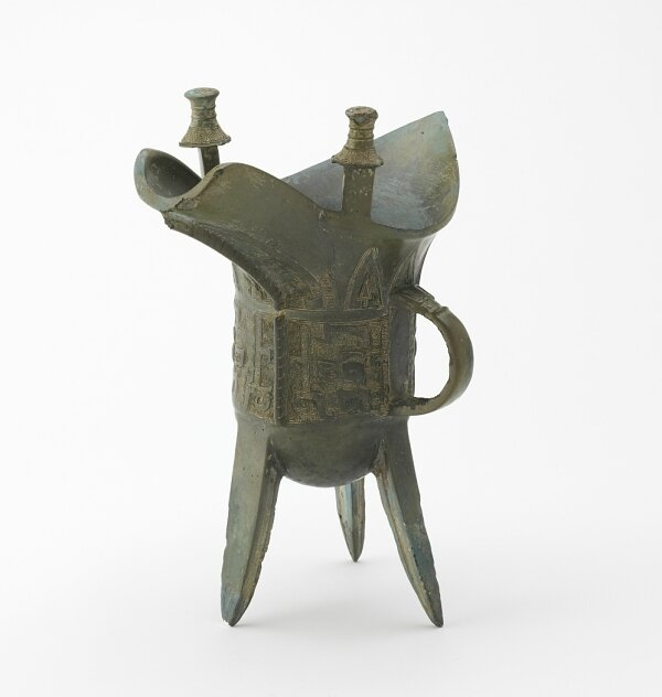 Ritual wine warmer with taotie, Late Anyang period, Late Shang dynasty, ca
