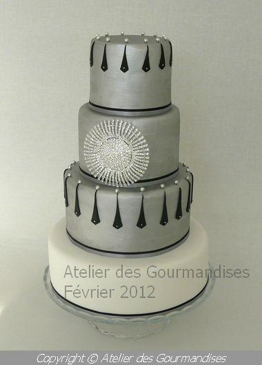 Wedding Cake Argente Atelier Des Gourmandises