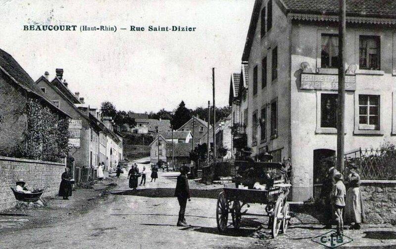 CPA Beaucourt Rue Saint-Dizier 2