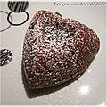 Moelleux au chocolat, coeur twix
