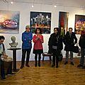 Eliane cartier et ses amis samedi lors de son vernissage