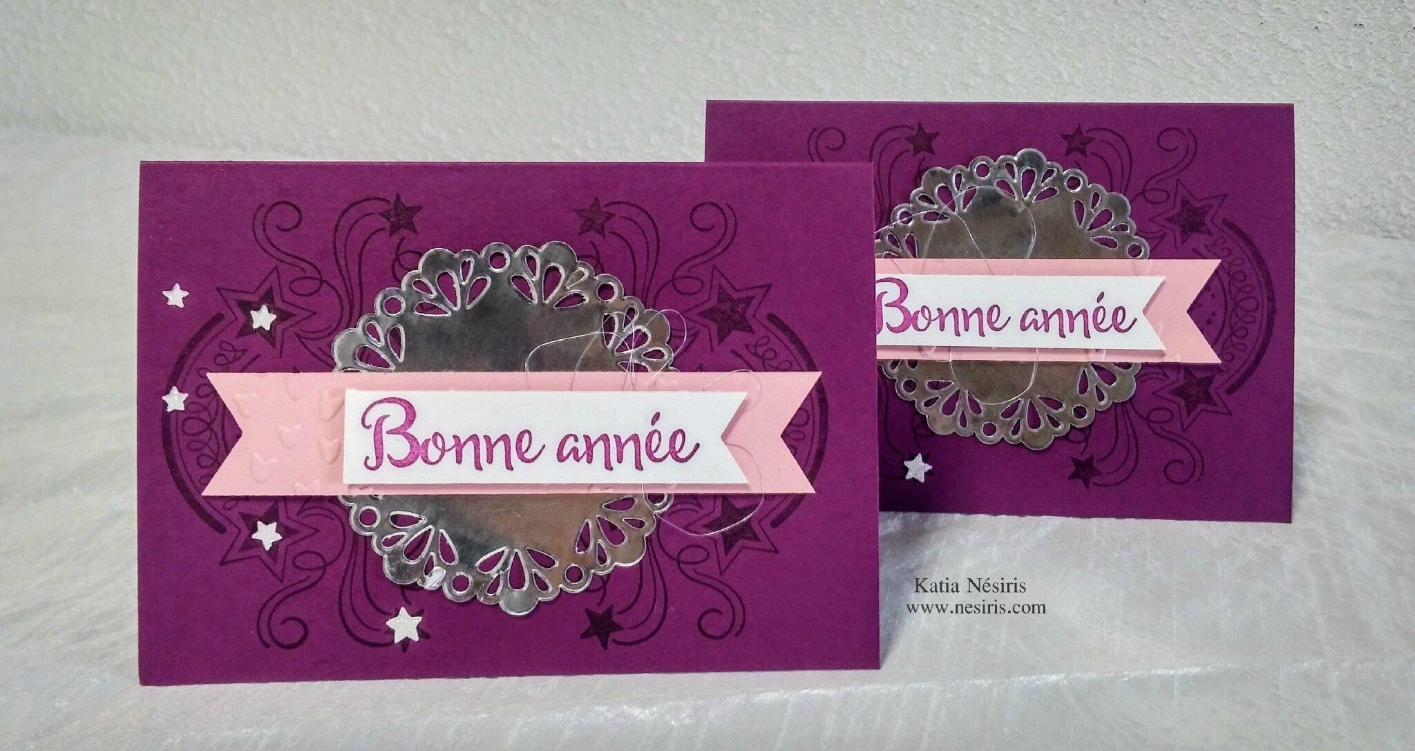 Carte anniversaire - Katia Nésiris démonstratrice Stampin'up2