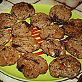 Cookies chataignes / noisettes / amandes / chocolat noir