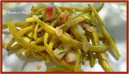 salade de haricots beurre amandes nectarines1