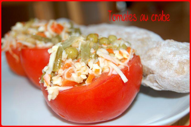 Idée Entrée Simple.Tomates Au Crabe Les Gourmandises De Nath