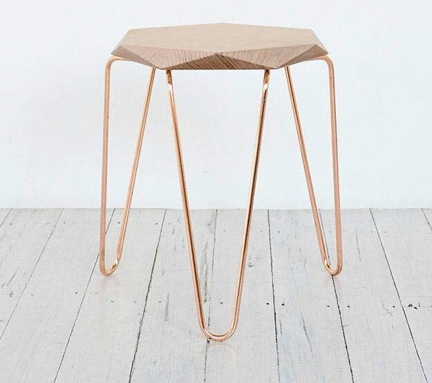 Klein-Gem-Stool-Copper-with-Natural-Top-TUCKBOX_1