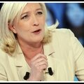 Marine le pen, présidente du front national, du 01/10/2015