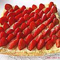 Carré sablé aux fraises