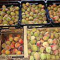 Fruits confits maison : pêches de vignes !
