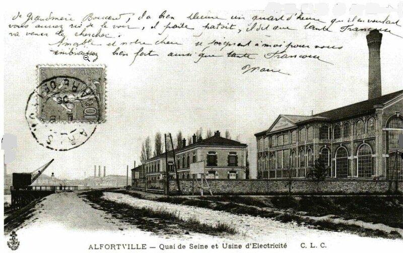 usine d'électricité Cie Est-Lumière Alfortville
