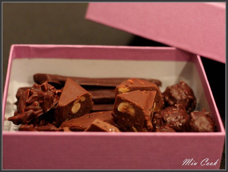 Boite de chocolats maison