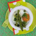 Œufs cocotte aux asperges et parmesan