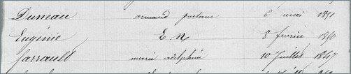 Eugenie Eudocxie Duval 1860 - Couleur Tourterelle 2 5