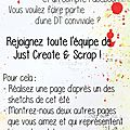 Appel dt chez just create & scrap