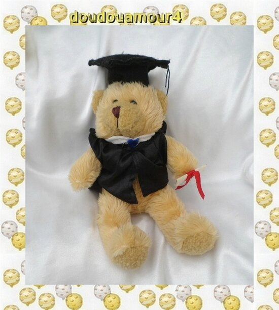 Peluche Doudou Ours Harald Le Diplomé The Teddy Bear Collection