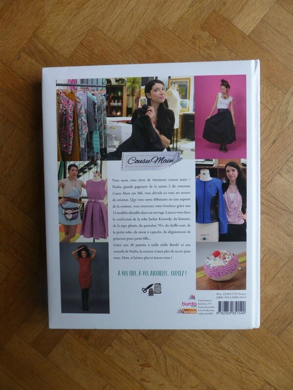 Livre Cousu Main - Les créations de Nadia par M6 Editions.