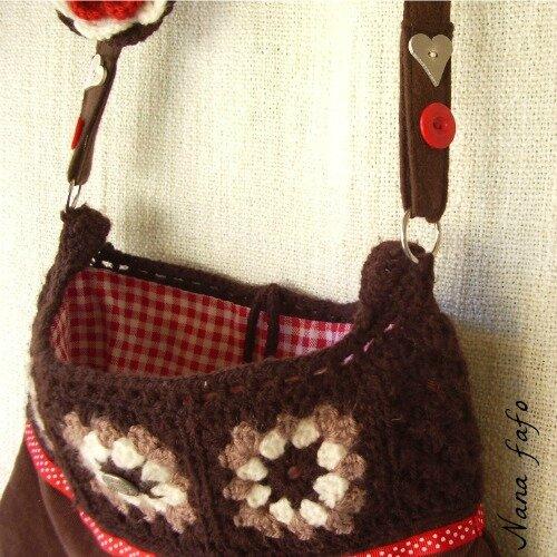 sac-crochet-granny-marron-detail