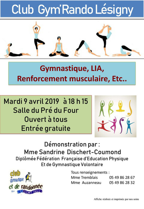 Affiche GYM Adultes