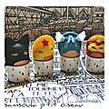 Defi n°367 des sc and more : carnaval ! ce sont les oeufs coques qui partent en vadrouille déguisés!