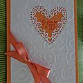 Carte cœur et petites coccinelles