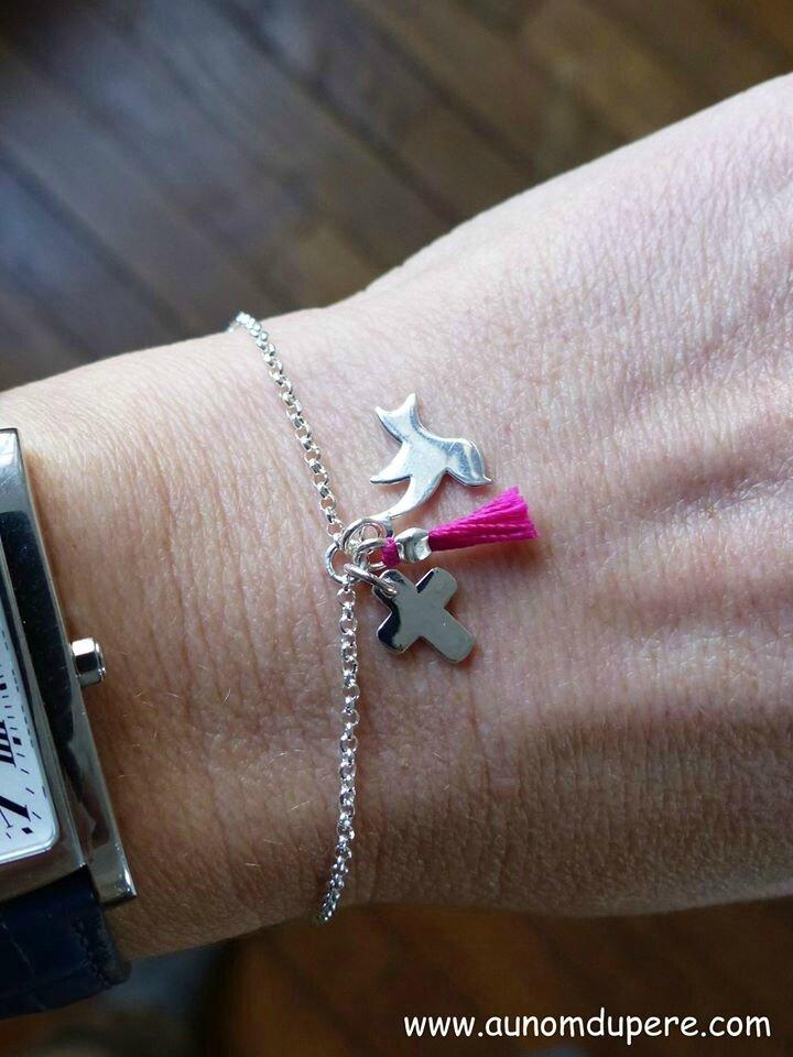 Bracelet Spiritus Sanctus (rose vif) - 53 €