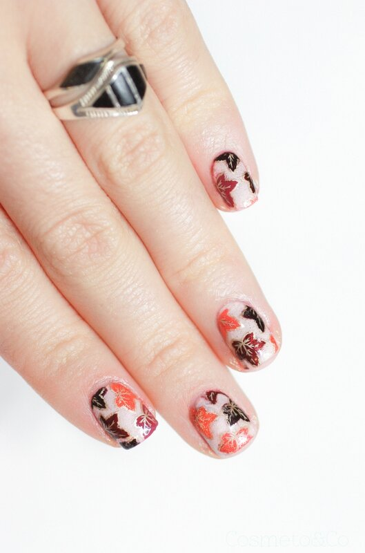reverse stamping feuilles mortes automne_