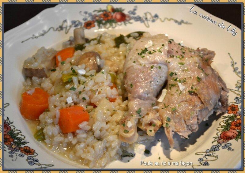poule au riz à la façon