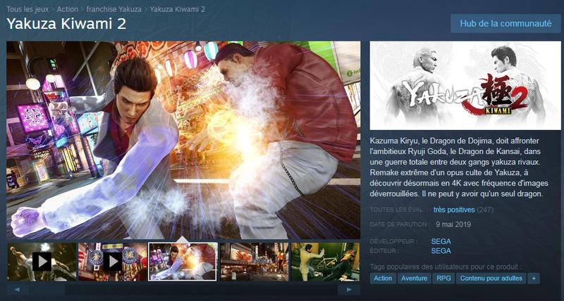 yakuza kiwami 2 steam