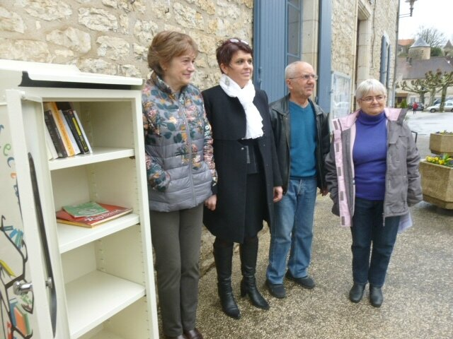 Inauguration boite à livres à St Sozy 04/03/2017