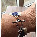 Bracelet en bleu et blanc