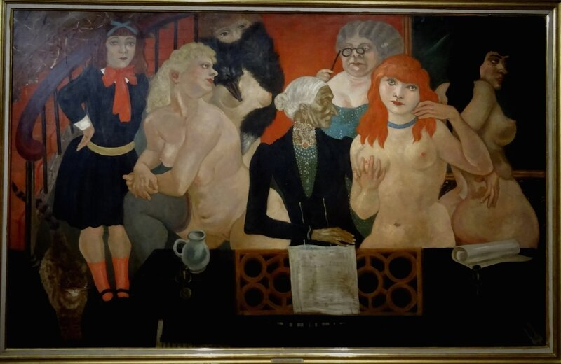 Foujita Le salon à Montparnasse 1930