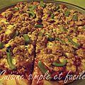 Pizza thon, poivron et mozzarella