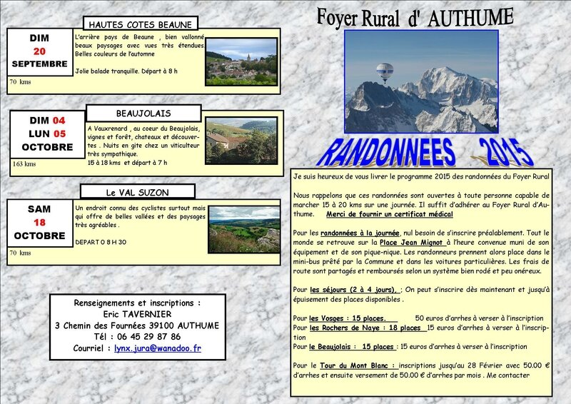 programme Foyer Rural 2015 1